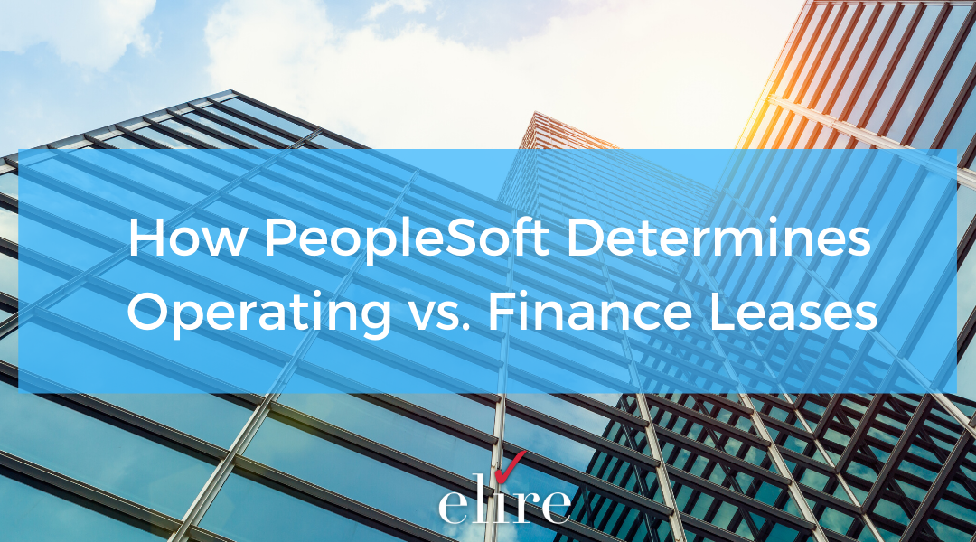 How PeopleSoft Determines Operating vs. Finance Leases