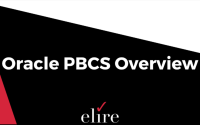 Oracle PBCS Overview