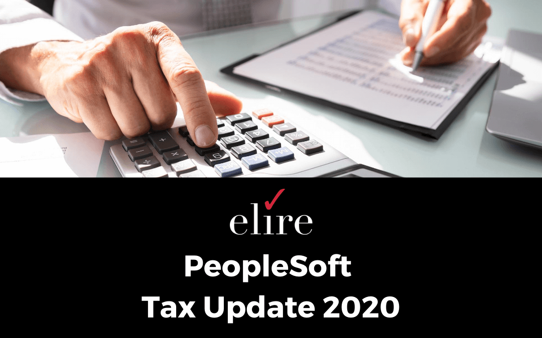 PeopleSoft Tax Update 2020