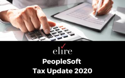 PeopleSoft Tax Update 2020