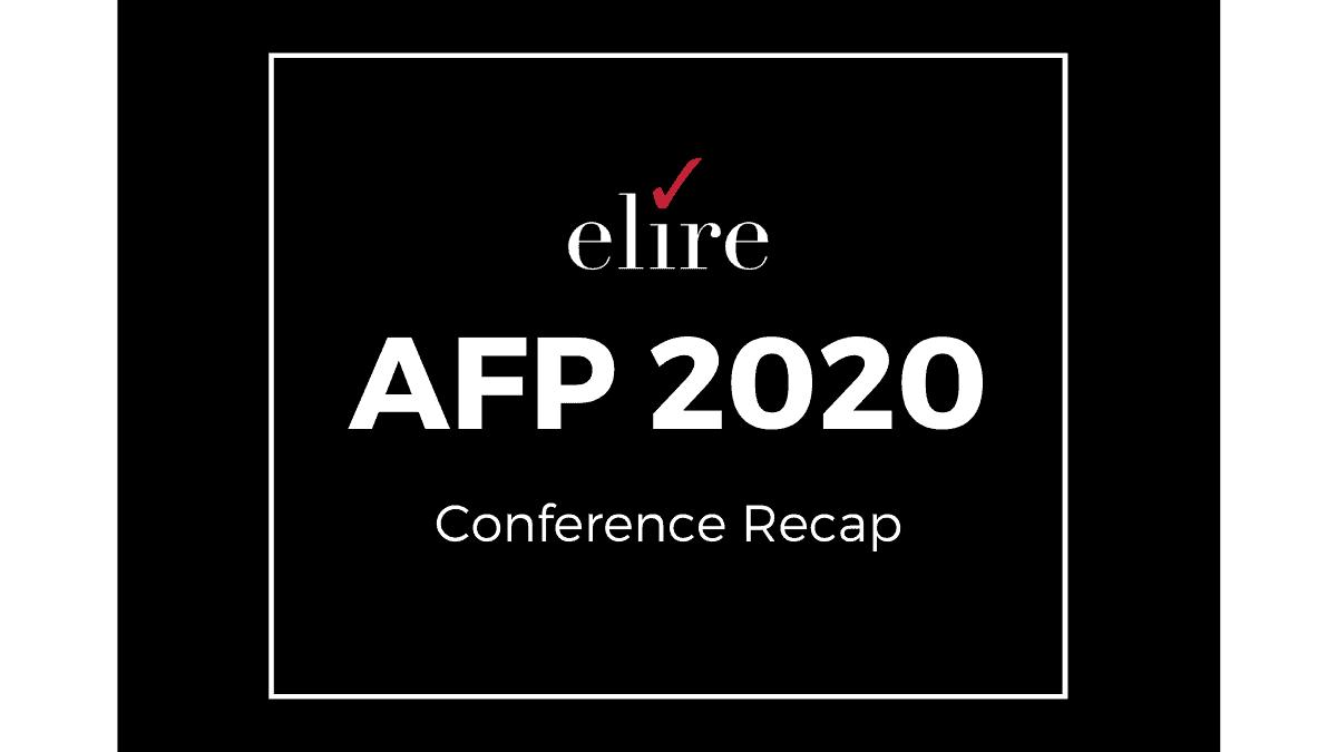 AFP 2020 Conference Recap