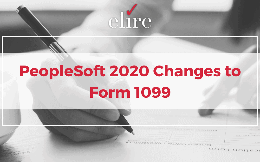 PeopleSoft 2020 Changes to Form 1099