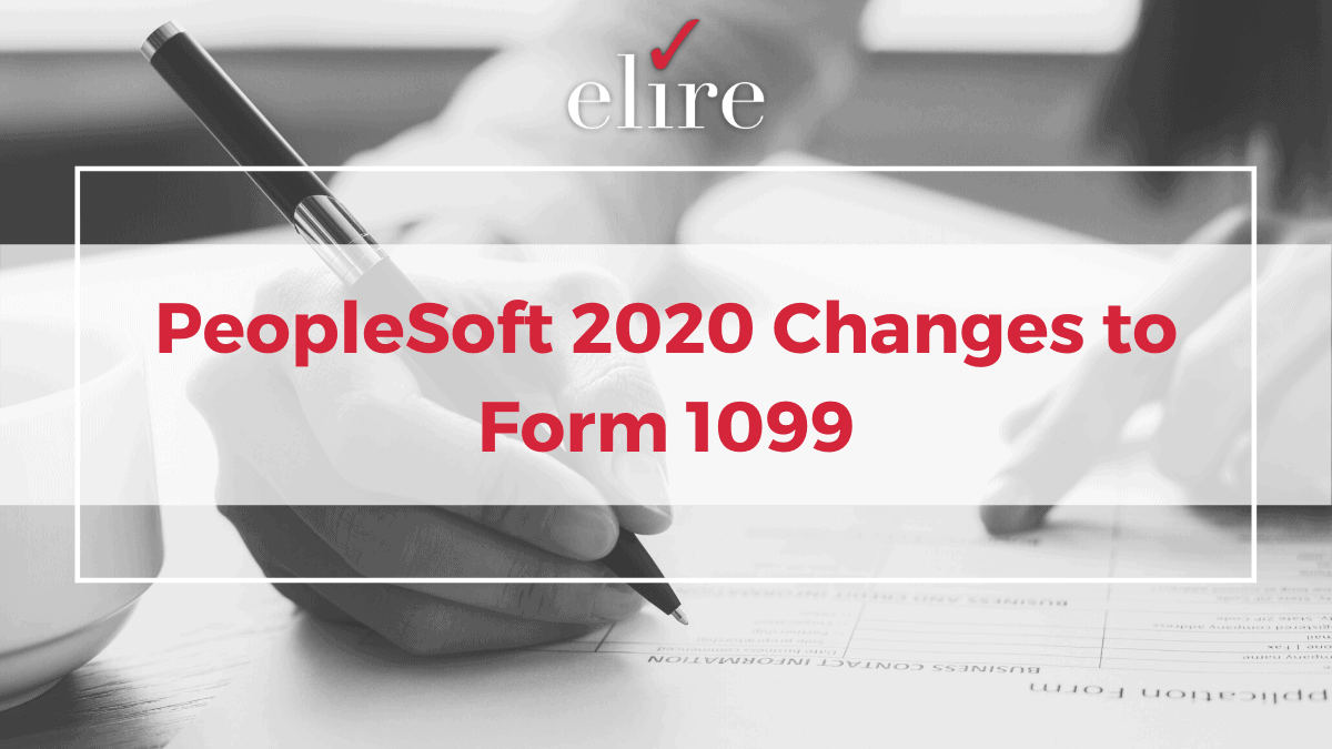PeopleSoft and changes to form 1099