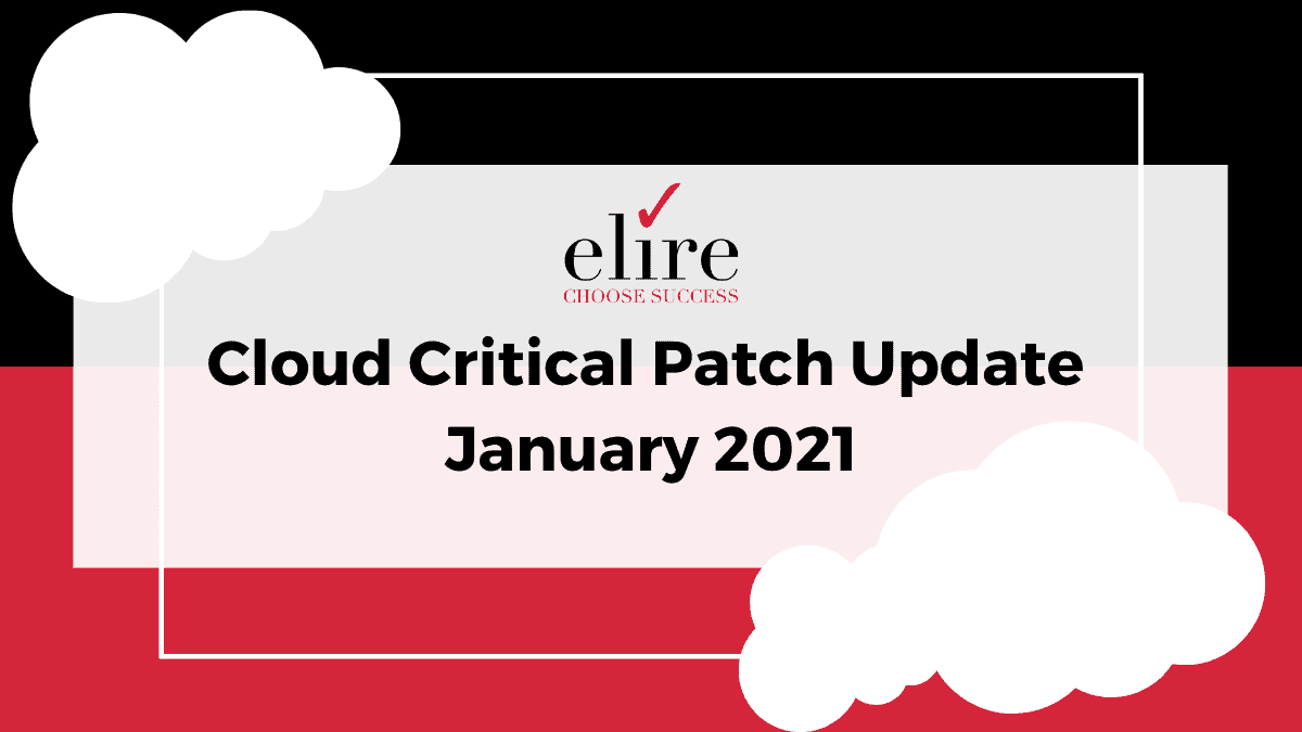 Cloud Critical Patch Update