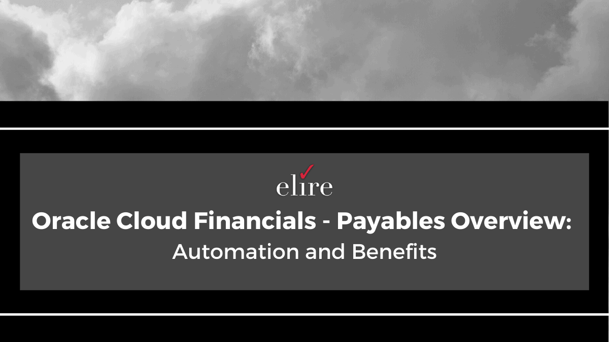 Oracle Cloud Financials and an overview of Source to Pay