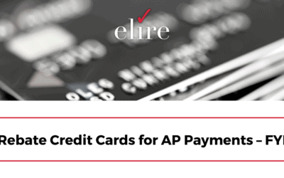 Rebate Credit Cards for AP Payments – FYI