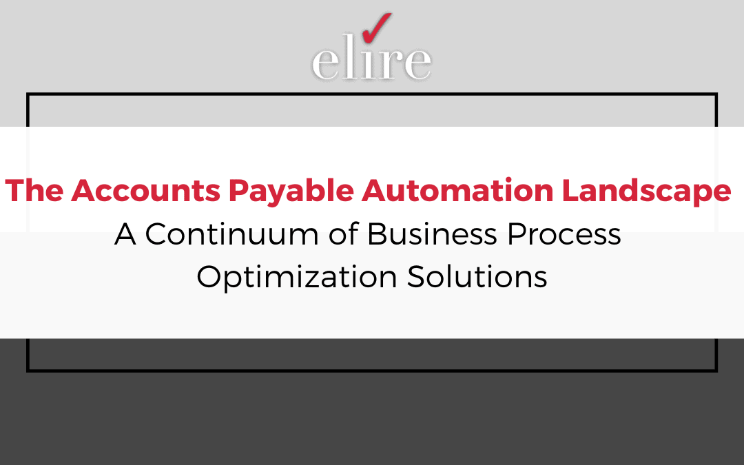 The Accounts Payable Automation Landscape