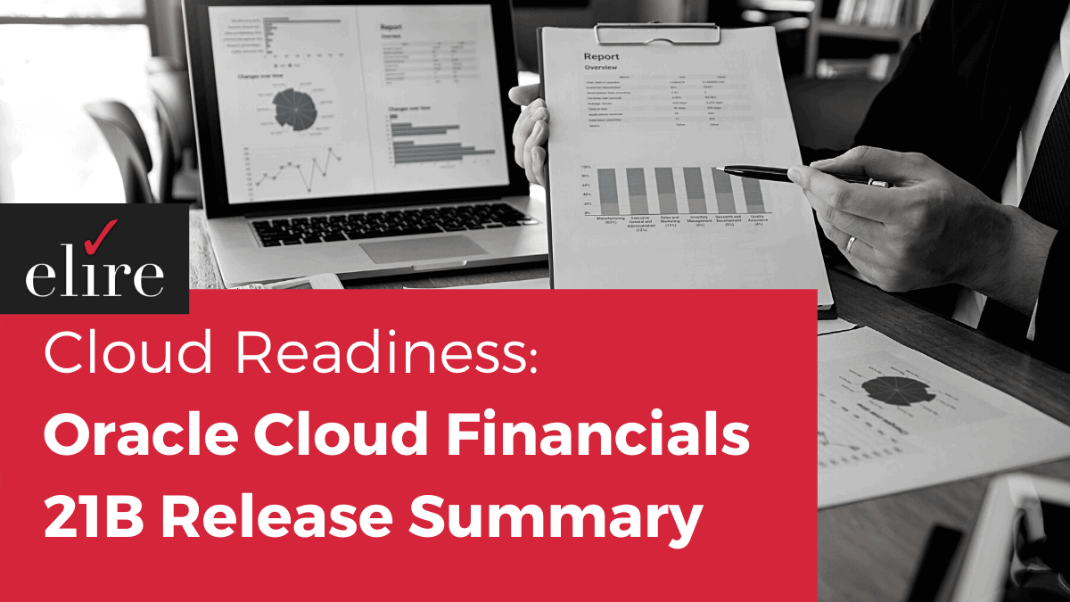 Oracle Cloud Financials 21B release summary
