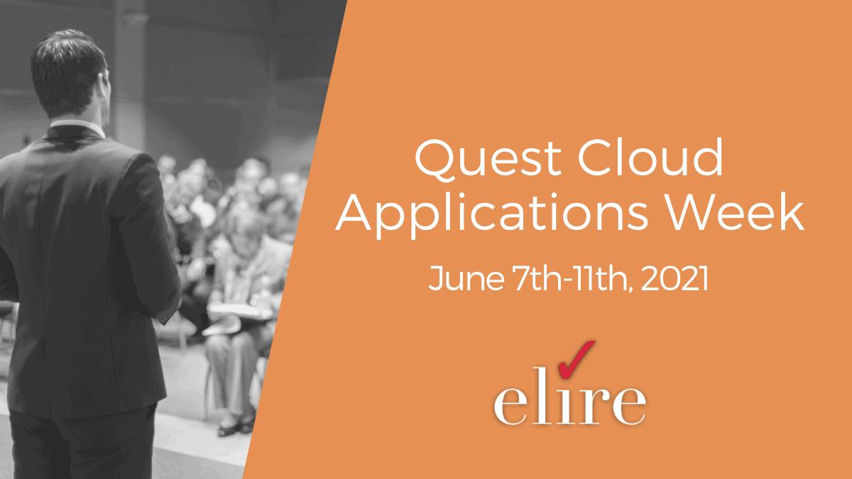 Quest Cloud Applications Week Conference Recap